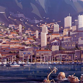 Concept Arts de James Woodwilson para a DreamWorks