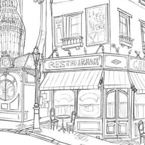 Incríveis desenhos de Paul Mager para o filme Um Montro em Paris