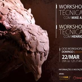 2 Workshops em 1 dia: Pintura Digital e Escultura tradicional