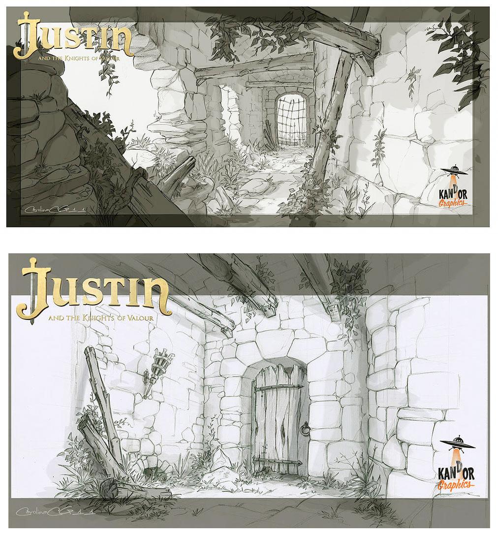 Cenários e props do filme Justin y la Espada del Valor, por Carolina ...