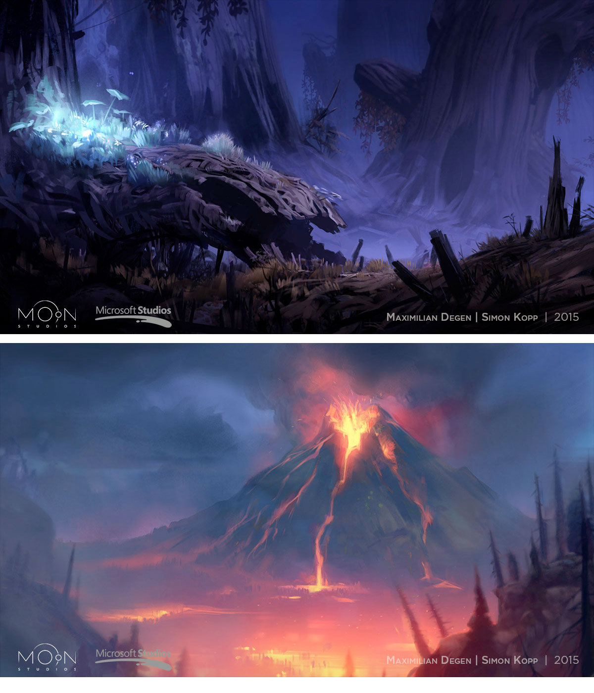 Artes Do Game Ori And The Blind Forest Do Moon Studios