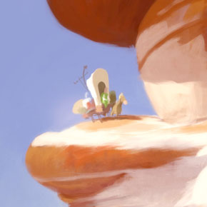 Artes de Carlos Felipe Léon para o filme The Lorax