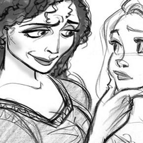 Gestos e expressões da personagem Mother Godhel, por Jin Kim