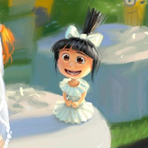 Concept arts e color keys de Despicable Me 2, por Yarrow Cheney