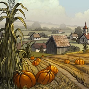 Artes da minissérie Over the Garden Wall, da Cartoon, por Nick Cross