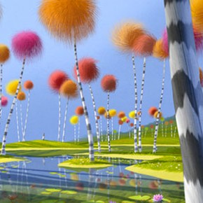 Lindas artes do filme The Lorax, por Colin Stimpsom