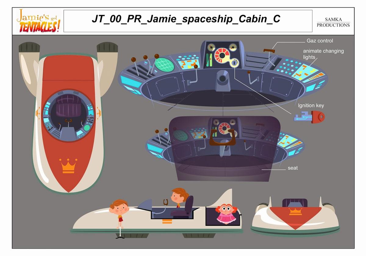 Props e efeitos especiais do seriado Jamie's got Tentacles