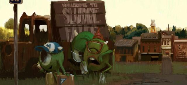 Artes de Robert Kondo para o filme Monsters University