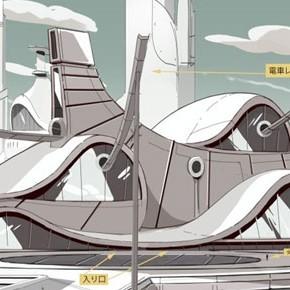 Artes de Aymeric Kevin para o seriado Space Dandy