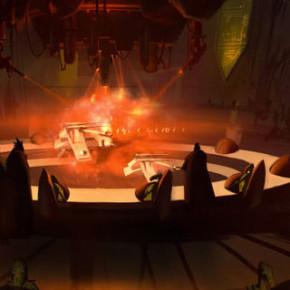 Aquecimento para as artes de Star Wars: The Force Awakens