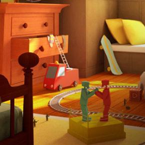 Artes de David Huang para o filme The Boss Baby, da DreamWorks