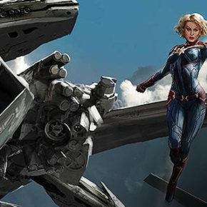 Artes do filme Captain Marvel, por Aleksi Briclot