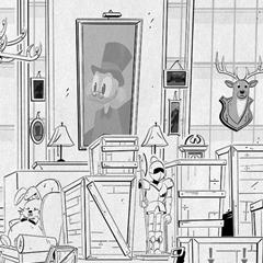Artes da primeira temporada de DuckTales, por Valerie Schwarz