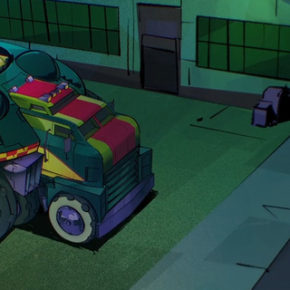 "Background Designs de ""Rise of the Teenage Mutant Ninja Turtles"""