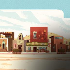 Artes de Victor and Valentino, do Cartoon Network, por Parpan Creative