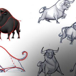 Character Designs do filme Ferdinand, por Sang Jun Lee