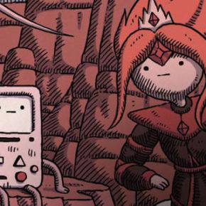 Ilustrações de Matt Houston para o DVD Adventure Time