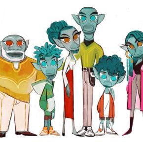 Artes de Gang Maria Yi para o filme Onward, do Disney-Pixar