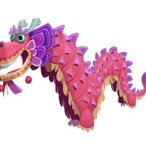 """Artes de """"Victorior"""" para Wish Dragon, da Sony Animation"""