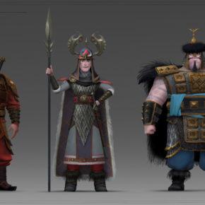 Artes de Iuri Lioi para o filme How to Train Your Dragon 3