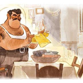 Artes de Maria Yi para o filme Luca, dos estúdios Disney-Pixar