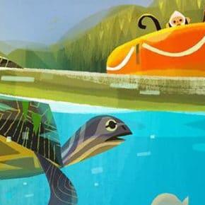 Artes de Joey Chou para o filme VIVO, da Sony Animation